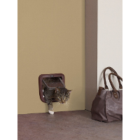 "Savic Access Basic 4 Way Cat Flap-Brown-8""x8.5"""
