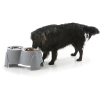 Savic Ergo Raised Dog Feeder 28cm, Cool Grey