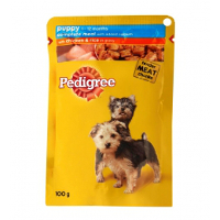 Pedigree Puppy Dog- Chicken and Rice in Gravy-80gms