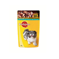 Pedigree Adult Dog Pouch- Chicken and Liver Chunks-80gms