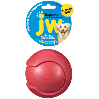 JW isqueak Bouncing Baseball Small-Red