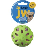 JW Crackle Head Ball- Medium- Green and Pink